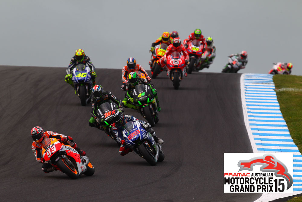 during the 2014 TISSOT Australian Motorcycle Grand Prix at Phillip Island Grand Prix Circuit on October 19, 2014 in Phillip Island, Australia.
